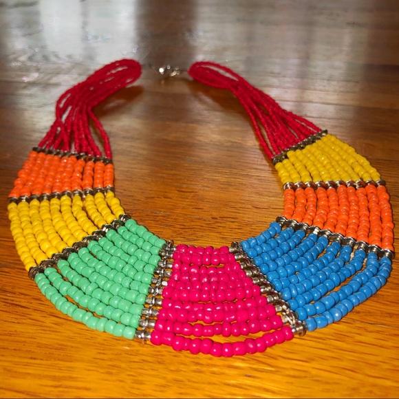 🌈 Beaded Collar